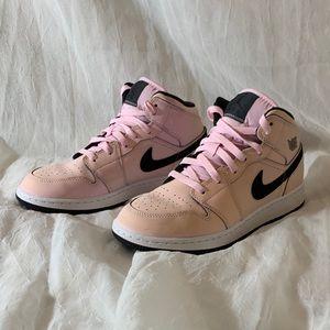 Jordan 1 Mid Pink Foam GS